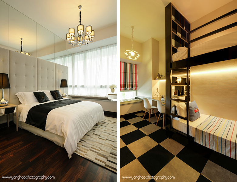 entrance left mater bedroom right children master condo interior design interiors condos - Condo Bedroom Design