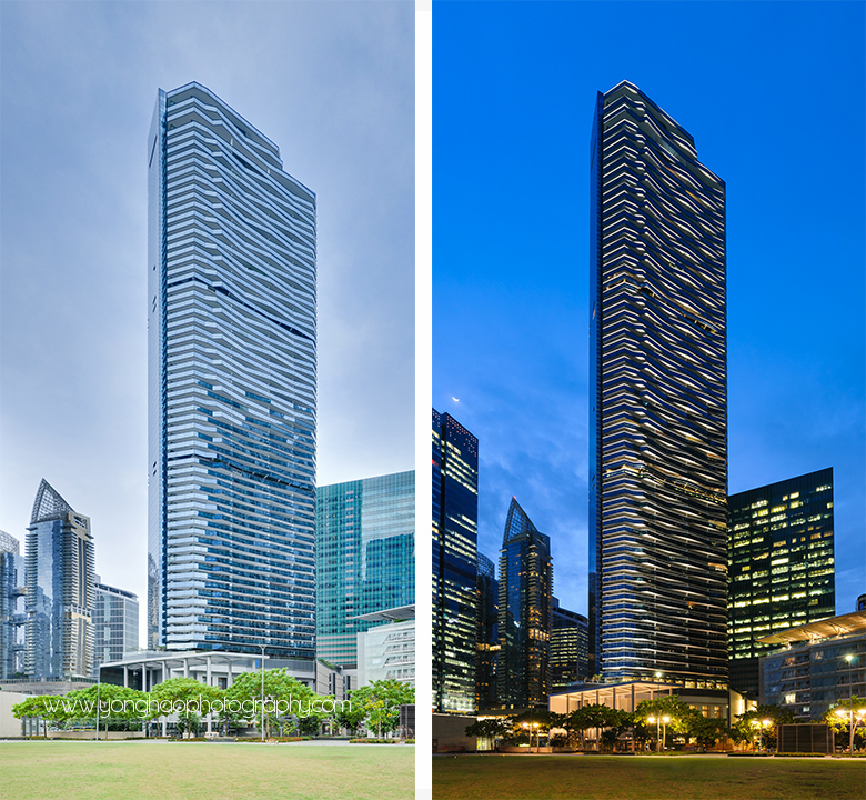 Architectural photography of marina bay suites for woh hup - Bay architecture ...
